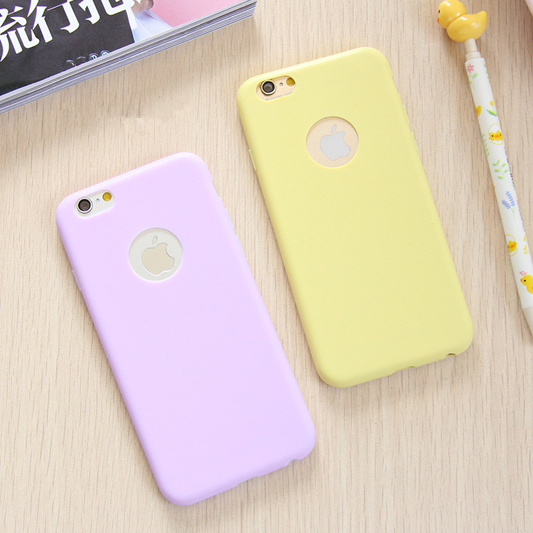 timeless design cf27a c8d40 Fashion Solid Candy Color Matte Skin Case for iPhone 6 TPU Soft Back Cover  for Apple iPhone 6S 6 S Phone Case 4.7 inch 8 Colors