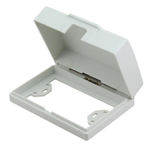 10pcs/pack White 118 Type Mounting Box Splash box Internal Italian Waterproof Cover Switch and Socket installing Wiring Back Box