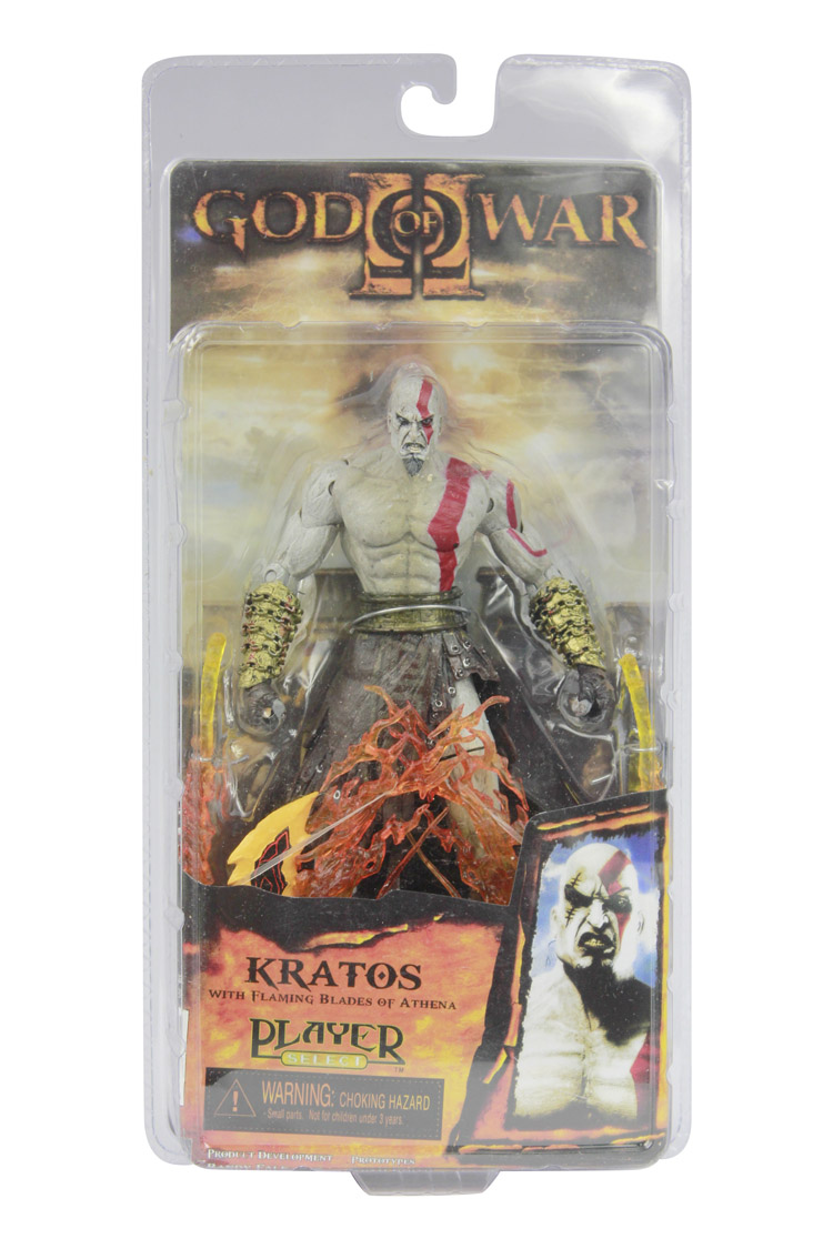 High Quality NECA God of War Kratos in Ares Armor Blades PVC Action Figure Toy 718cm Free Shipping Model  #GOW003 free shipping god of war anime kratos action figures kratos angry expressions statue mars kratos collection toy fb198