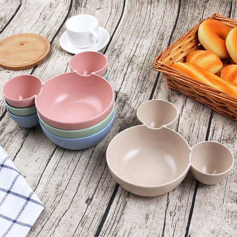 Посуда детей Экологичный Bowl здоровый пшеничной соломы Кухня пластиковые миски быстро Еда блюдо путешествия Столовая посуда Еда tigela