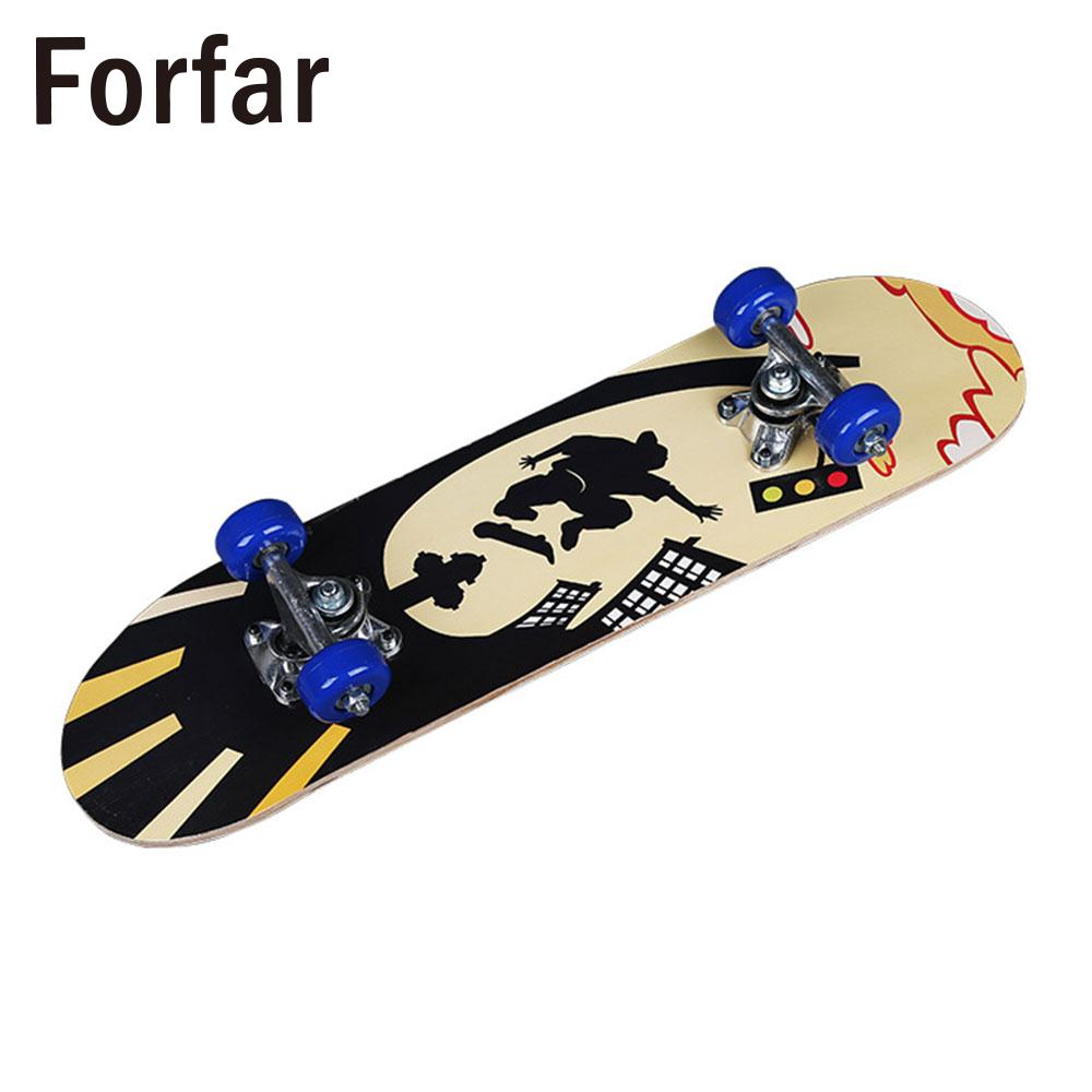 3 Style Deck Skateboard Complete Skateboard Single Warping Slide Teenagers Extreme Sports ular Fashionable