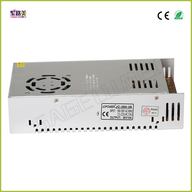 Free shipping DC36V 350W 10A Universal Regulated Switching Power Supply for CCTV Led Radio Lighting Transformers Power Supply
