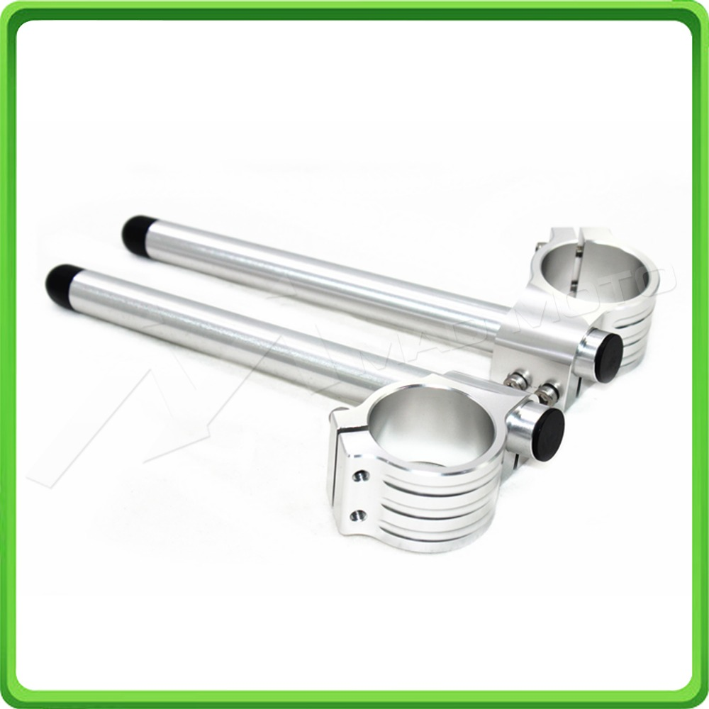 50MM Silver Motorcycle Fork Clip-ons and handlebar tubes For APRILIA RSV 1000  Factory 2006 2007 2008 2009 Clip-on handle bars (6)