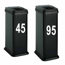 Personalized Customize Garbage Bin Decor Trash Can Custom House Number And Street Name Art Decals adesivo de parede