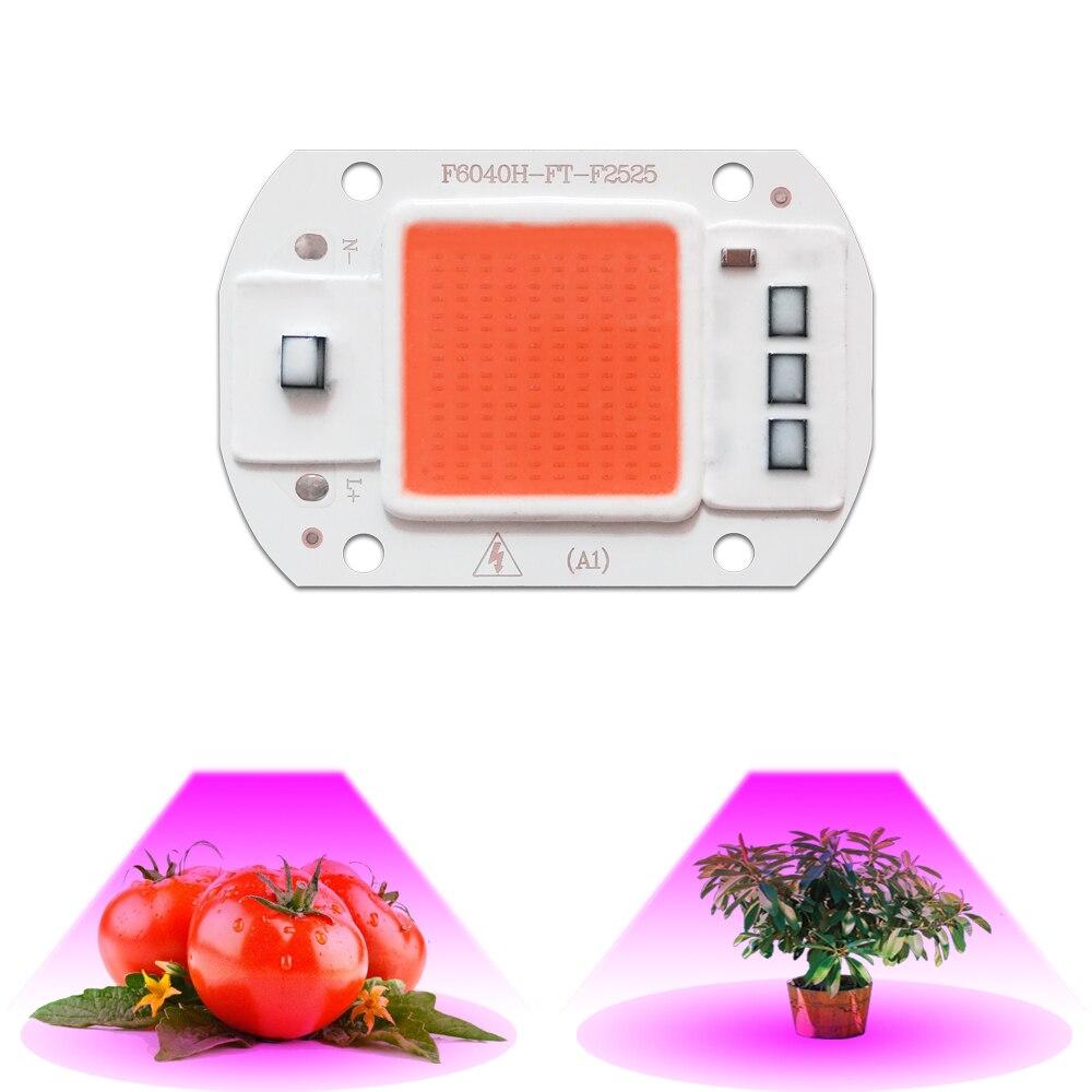 10pcs/lot Led Grow Light Chip 20W 30W 50W Full Spectrum 380nm~780nm  Greenhouse DIY for LED Lamp led pcb ac 110v 240v