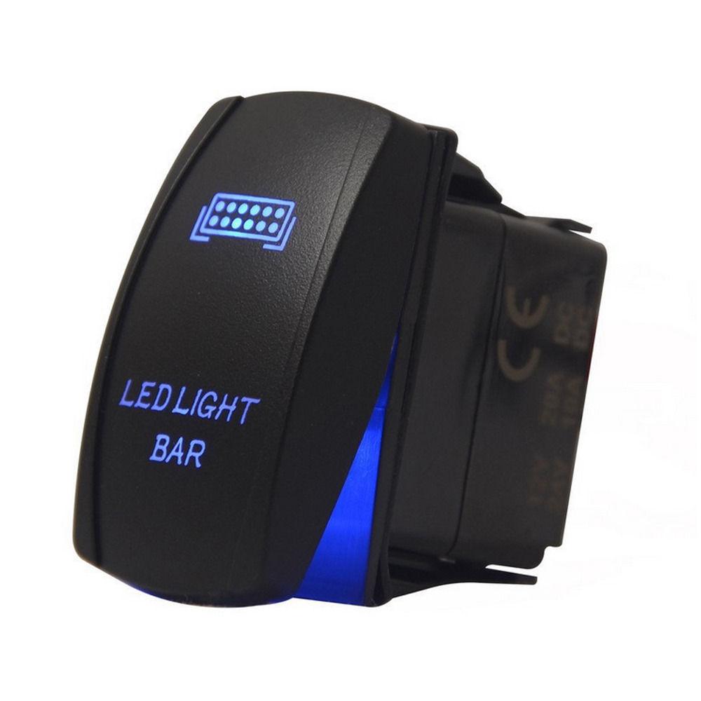 Blue Laser Etched LED Dark Side 12V 20A 10A 5pin Rocker Toggle Switch Car Boat