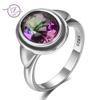 2b7ae4020e1a Dijes 8x10 MM piedras preciosas Topacio mujer anillos de boda 925 joyas de  plata niñas fiesta de aniversario de cumpleaños de mujer presente venta al  por ...
