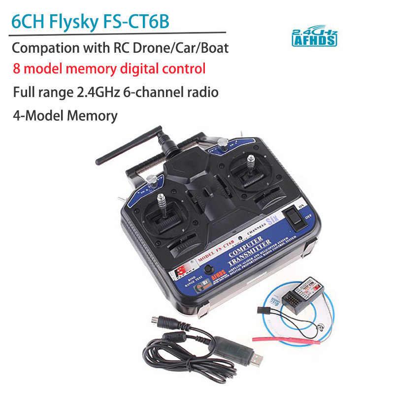 2 4G Flysky FS-CT6B 6 CH Radio Model RC Transmitter & Receiver PPM/GFSK  Heli/Airplane/Glid 12V DC for DIY RC Drone RC Car