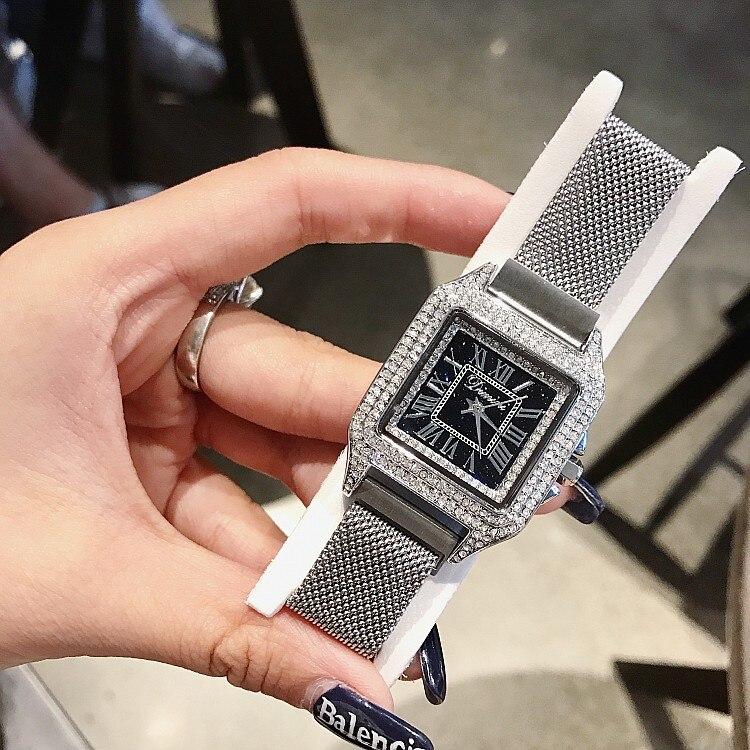 Women Watch Stainless Steel Square Casual Watches relogio feminino 2019 woman watches reloj mujer zegarek damski