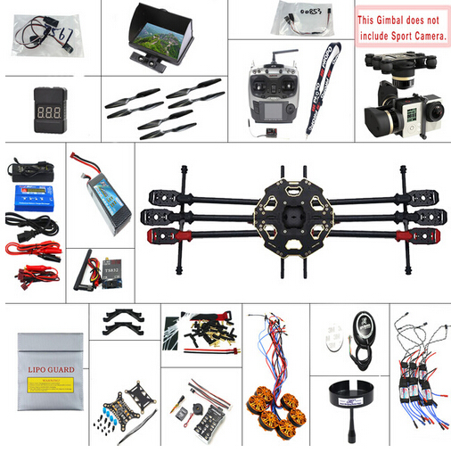 F07807-G  JMT 2.4G 9CH 680PRO PX4 GPS 5.8G Video FPV RC Hexacopter Unassembled Full Kit RTF DIY RC Drone Combo MINI3D Pro Gimbal лодочный мотор sea pro f 9 9s new