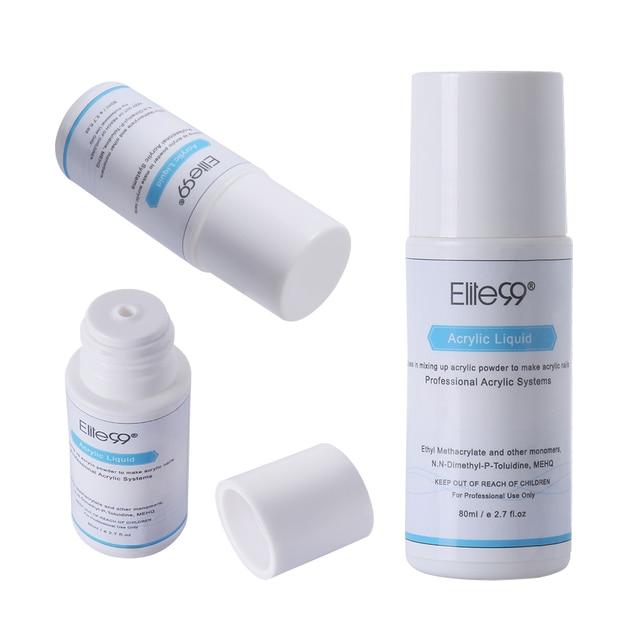 Elite99 Acryl Flüssigkeit Monomer Falsche Acryl Nail art 80 ml Salon Werkzeug Maniküre Nail art Für Acryl Pulver Staub Nagel tipps Pulver