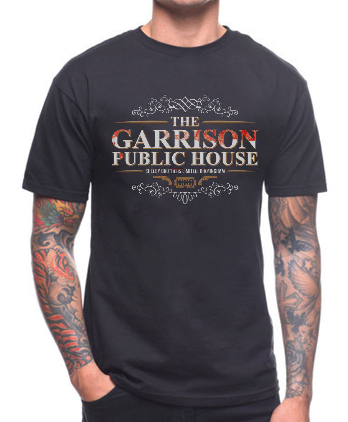 THE GARRISON PUBLIC HOUSE   T     SHIRT   PEAKY BLINDERS Cotton Men   T  -  Shirts   Classical Top Tee Sleeve   Shirts   Fashion Top Tee