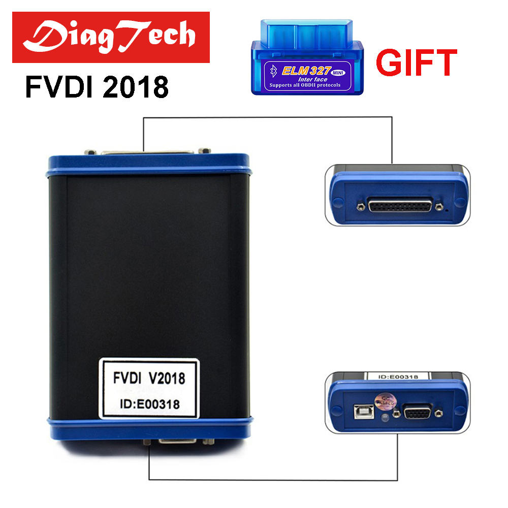 Original FVDI 2018 ABITES Commander Scanner Full Version With 18 Softwares Unlimited Update Online FVDI 2014/2015 DHL Free