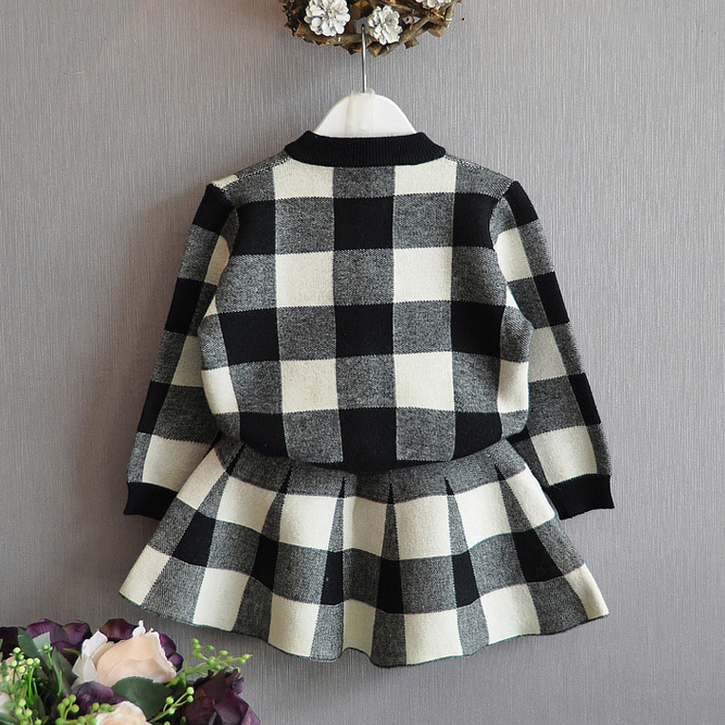 Image 3 - Humor Bear Autumn 2019 New Girls Clothing Sets Casual Long Sleeve Plaid Jackets+Skits 2Pcs Suits for Kids Set-in Clothing Sets from Mother & Kids