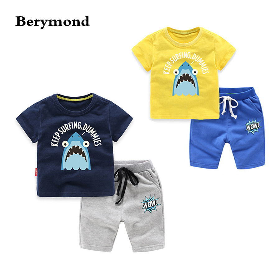 Baby Boys Clothing Set 2018 Summer New Fashion Cotton T-shirts Shorts Pants for 1 2 3 4 5 6 Years Old Children Clothes 2PCS Suit