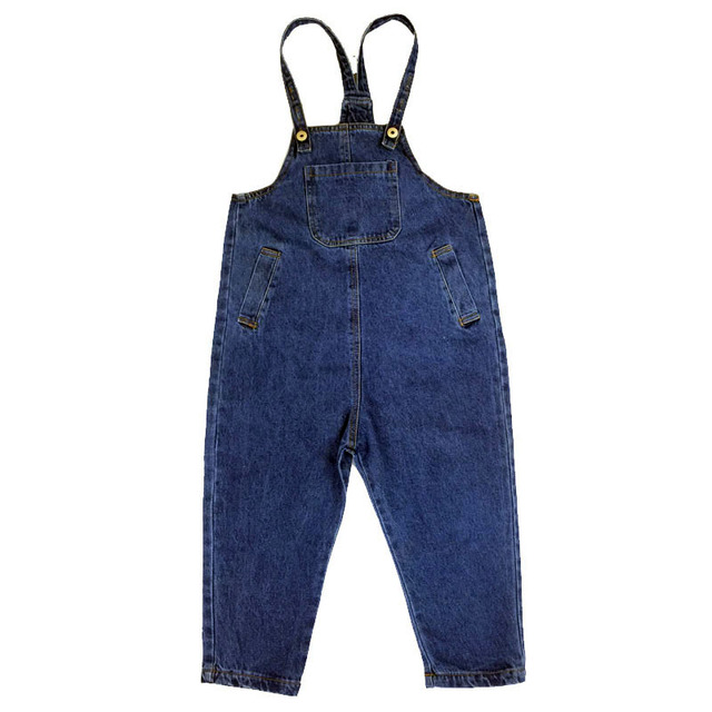 eec81dfbc00 4 5 6 7 8 9 10 11 12 13 14 15 Years Denim Overalls For Girls Autumn ...