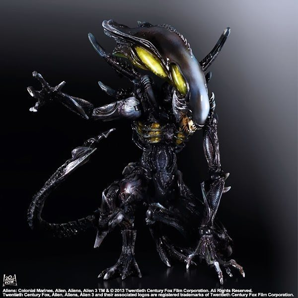 ФОТО Halloween Toy Gift Alien Action Figure Collection 25cm PA Alien Model Doll Movable Decorations