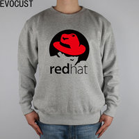 Little Red Riding Hood REDHAT LINUX Men Sweatshirts Thick Combed Cotton