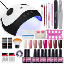 Manicure Set With 36W UV LED Lamp Dryer Full 40 Colors Nail Tools For Gel Polish All