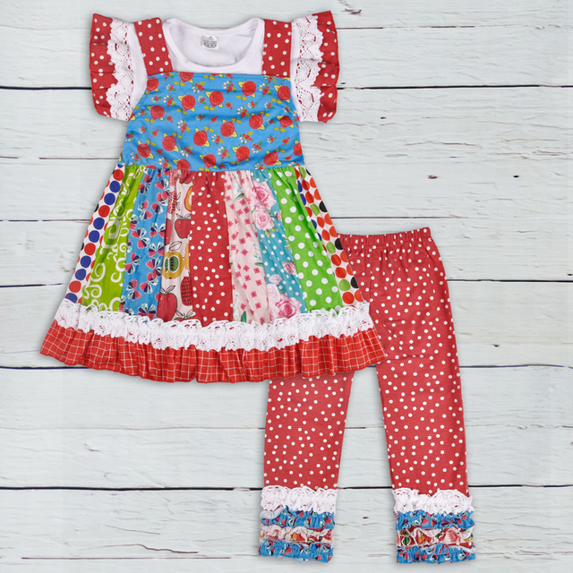 5fd03843e744 Mustard Latest Style Baby Girls Summer Cotton Hot Red Remake 3 pcs Outfit  Clothes Boutique Floral Ruffles Pant Toddler Set S131
