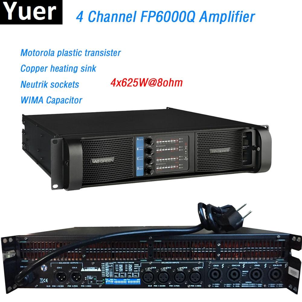 4 Channel FP6000Q Amplifier line array amplifier WIMA Capacitor line array professional Sound Power Amplifier Line DJ Disco