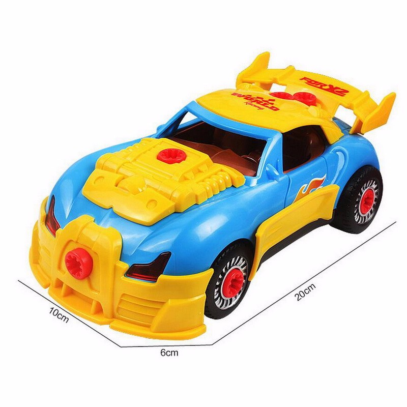 Car Toys For Boys Playsets World Racing Car Take A Part Tool Drill Lights Sounds