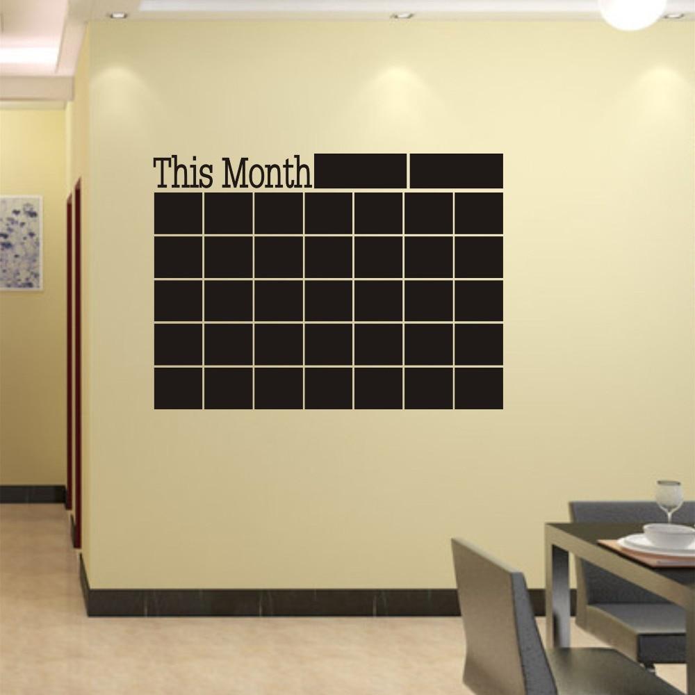 Vinyl Chalkboard Wall Stickers Removable Blackboard Decals