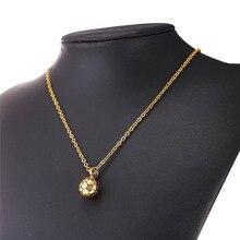 Stainless Steel Football Pattern Pendant & Link Chain Necklace For Men/Women Sport Boy Soccer Fan Hip Hop Jewelry P1095