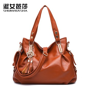 SNBS 100% Genuine leather Women handbags 2016 New Ms classic atmosphere fashion