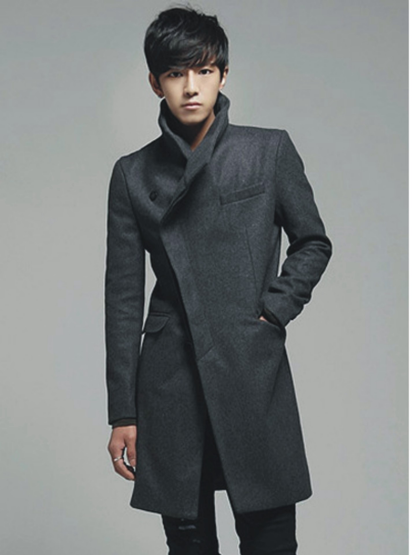 MRMT 2019 Brand Autumn Winter Men's Jackets Body Repair Woolen Overcoat For Male Long Woolen Jacket Outer Wear Clothing Garment