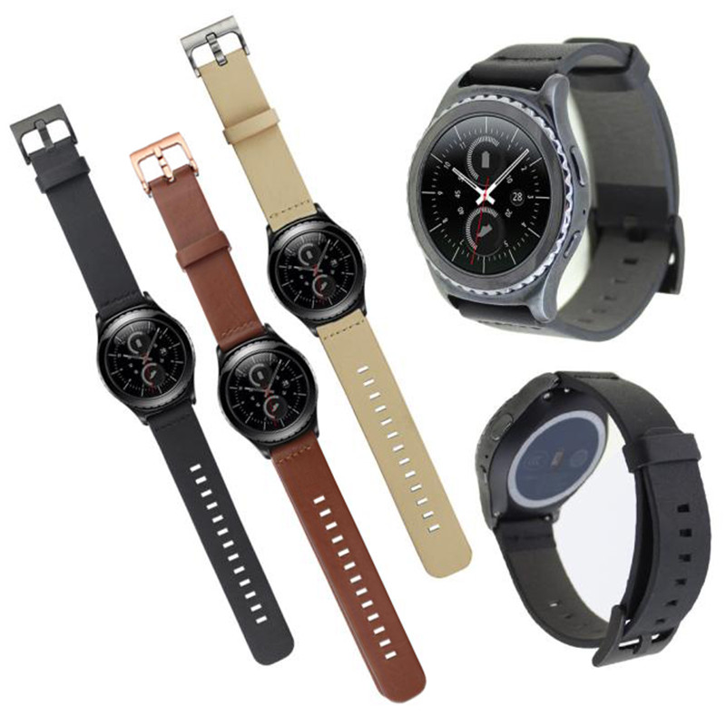 20mm Luxury Genuine Leather Watch Strap Band For Samsung Galaxy Gear S2 Classic SM-R732 Wrist Band Watchband Accessory genuine leather watch band strap for samsung galaxy gear s2 classic r732 black