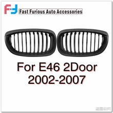 For BMW E46 2 Door 2002-2007 Grilles Matte Black Kidney Grill For BMW 325Ci 330Ci