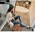 Ripped Boyfriend Jeans For Women Sale 2015 Summer Style Womens Regular Denim Spliced Distressed Vintage Jeans Peto Vaquero Mujer