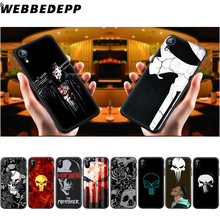 WEBBEDEPP Marvel The Punisher Crânio Soft Case de Silicone para iPhone 11 Pro Xr Xs Max X ou 10 8 7 6 6S Plus 5 5S SI Caso 8 Plus(China)