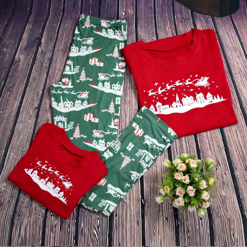 Matching Christmas family pajamas new year family look mother father baby  pyjama set sleepwear pjs xmas sled adult kids clothes-in Matching Family  Outfits ... dcd4fc18d