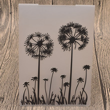 Dandelion Plastic Embossing Folders for Card Making DIY Scrapbooking Paper Craft Template