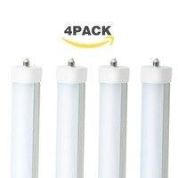 4 paket 8FT 45W LED lamba 240cm tek pin LED tüp ampul 2400mm dondurucu düz floresan 5500K FA8 taban çift uçlu güç