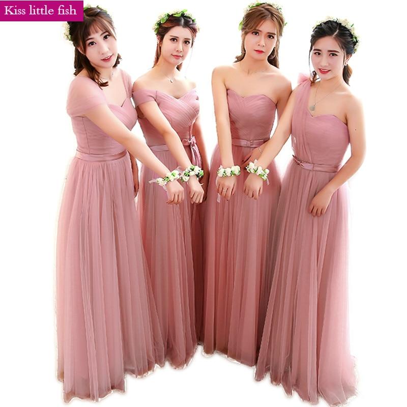 Pink Long Bridesmaid Dresses Dress