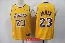 406f01e6176 Youth kids 2018 New arrvail high quality Los Angeles LeBron James Lakers  yellow jersey(China