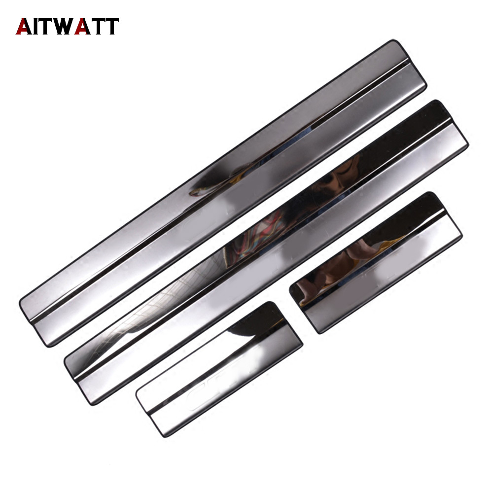For Honda City 2008-2014 Stainless Door Sill Scuff Plate Cover Car Sticker Styling Accessories Trim Guard Protector Door Sills стоимость