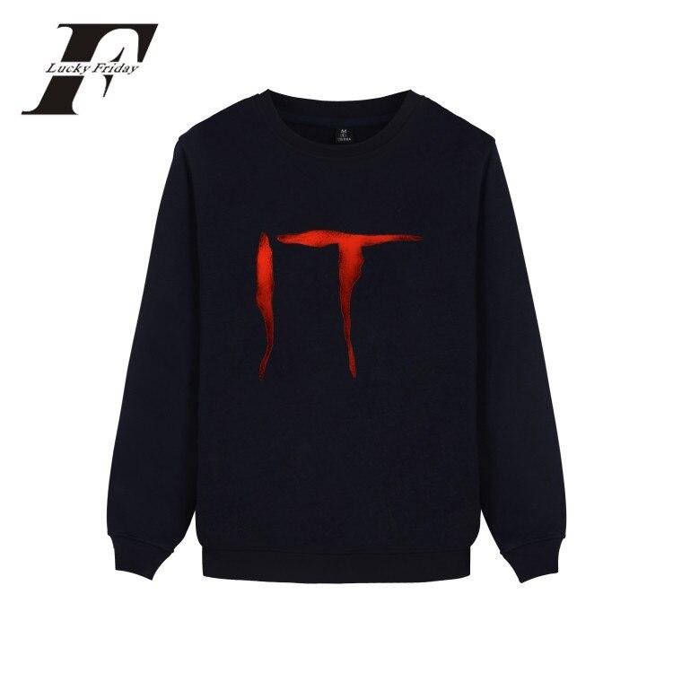Stephen King's It Horror Movie Sweatshirts Harajuku Casual Gothic Hoodies Men Sweatshirt Streetweat Winter Hoodies Men Clothes