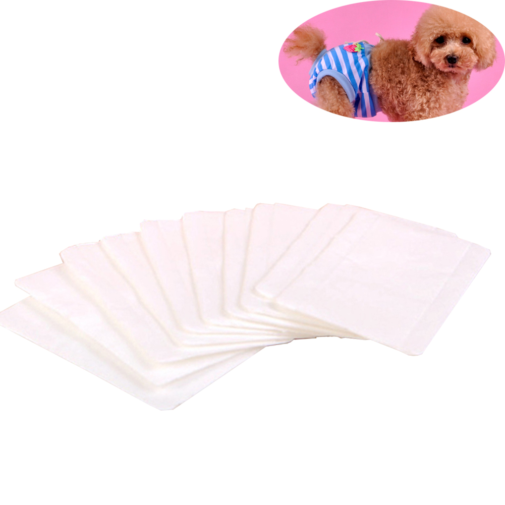 10pcs Hygienic Non-woven Fabric Health Care Absorbing Disposable Female Dog Lightweight Practical Pet Sanitary Pad Safe Towel