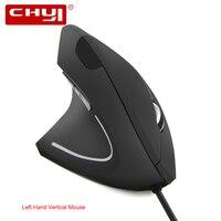 Lado esquerdo do Mouse Vertical Ergonômico Wired Gaming Mouse 800-1200-1600DPI Óptico USB Ratos de Computador Com Mouse Pad Para PC Portátil