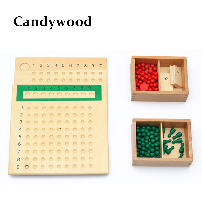 Candywood Wooden Montessori Educational Toy Division And Multiplication Bead Board Child Early Learning Toys Maths Training kids candywood montessori memory sense touch educational toy children early learning teach toys wooden blocks for kids gift