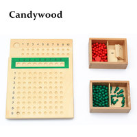 Candywood Wooden Montessori Educational Toy Division And Multiplication Bead Board Child Early Learning Toys Maths Training kids