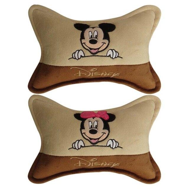 plush embroidery  pillow Car Headrest Safety car seat covers pillow headrest Auto accessories Car Styling  Men women girls
