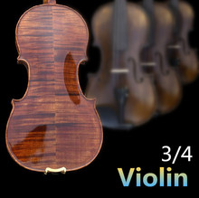 3/4 Spruce violin handcraft violino Musical Instruments with violin rosin case