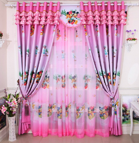 Hot Sale Cartoon Curtains For Living Room Of Children Pink Blue For Girls  And Boys Curtains Window In Curtains From Home U0026 Garden On Aliexpress.com  ...