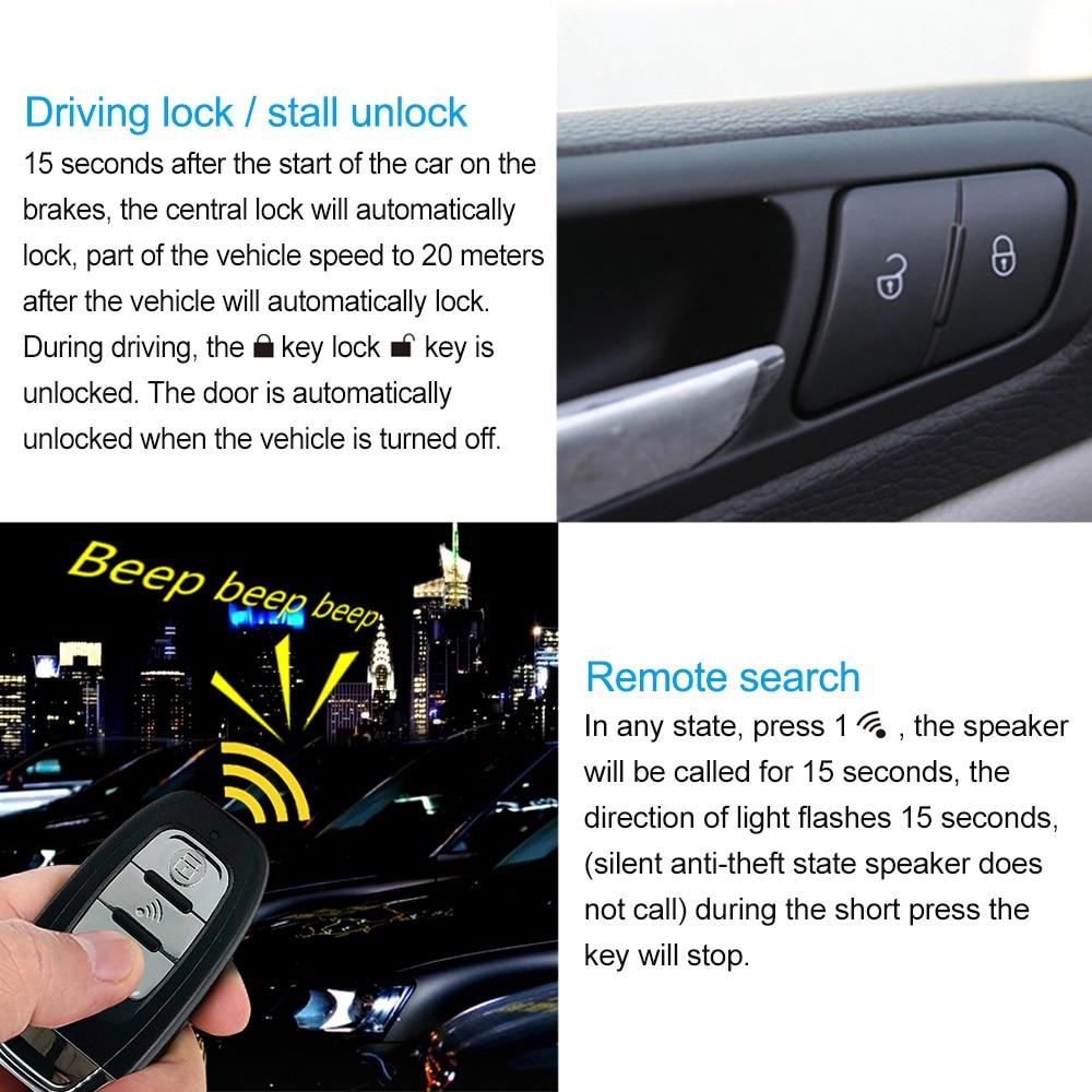 lowest price 9Pcs set Auto Remote Start Car Alarm System Engine Starline Push Button Start Stop SUV PEK Keyless Entry System Car Immobilizers