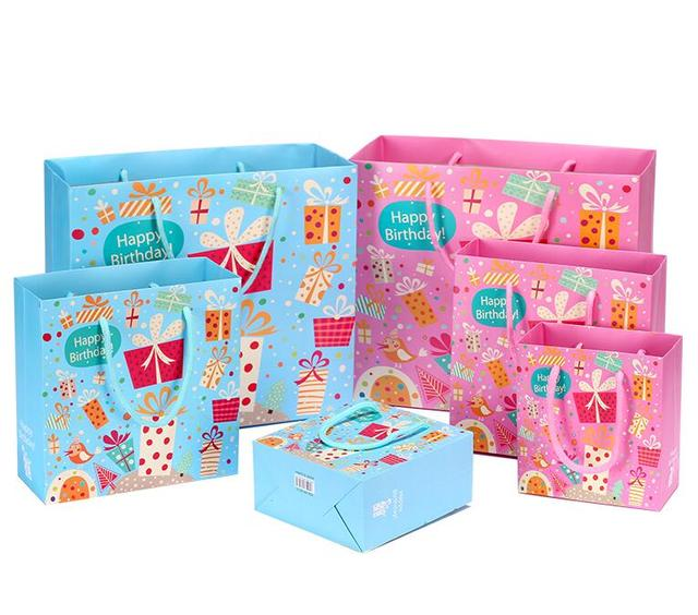 Alice, 10pcs/lot Pink/Blue Christmas gift bags for kids,Cartoon gift ...